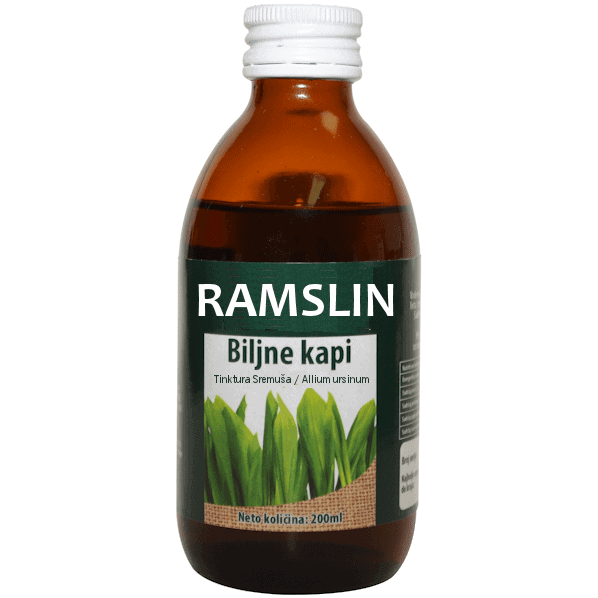 Ramslin biljne kapi - tinktura sremuša