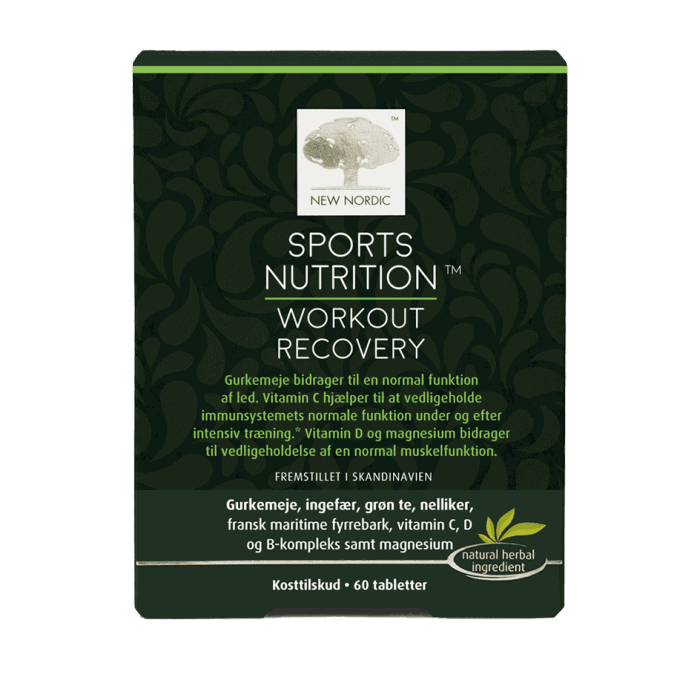 Sport nutrition workout recovery tablete