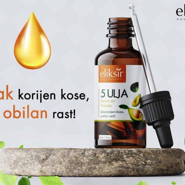 Eliksir Serum za kosu 5 ulja 30 ml